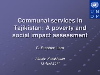 Communal services in Tajikistan: A poverty and social impact assessment