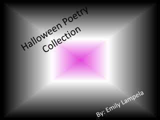 Halloween Poetry  Collection