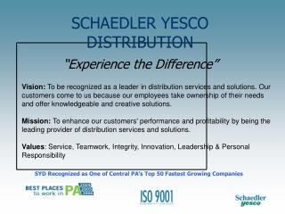 SCHAEDLER YESCO DISTRIBUTION