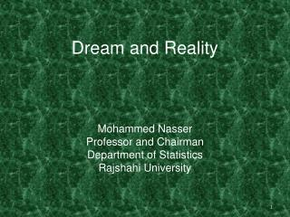 Dream and Reality