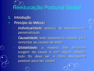 Reeduca  o Postural Global
