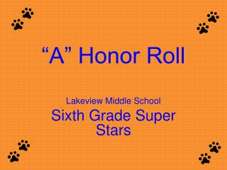 """A"" Honor Roll"
