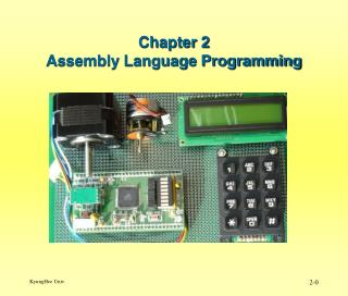Chapter 2 Assembly Language Programming