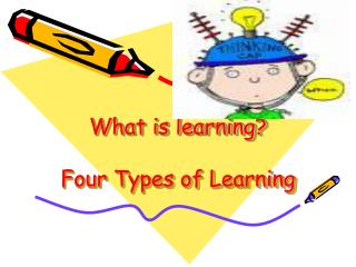 What is learning? Four Types of Learning