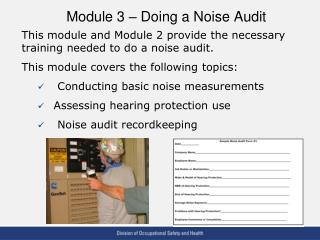 Module 3 – Doing a Noise Audit