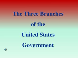 The Three Branches  of the  United States  Government