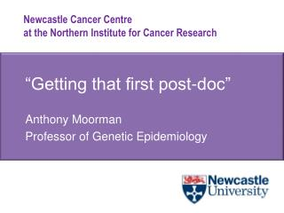 """Getting that first post-doc"""
