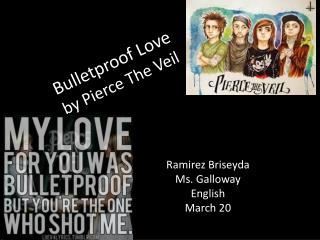 Bulletproof Love by Pierce The Veil