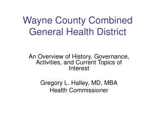 Wayne County Combined General Health District