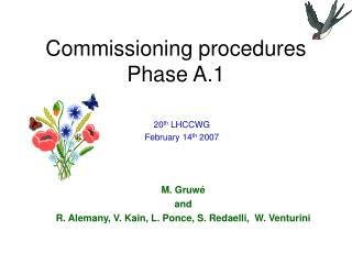 Commissioning procedures Phase A.1