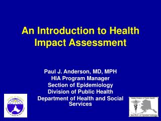 An  Introduction to Health Impact Assessment