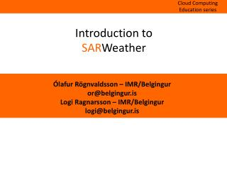 Introduction to SAR Weather