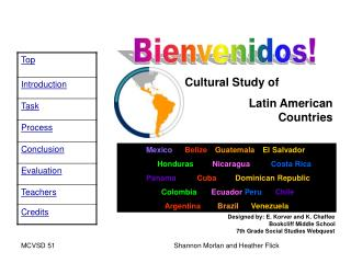 Cultural Study of   Latin American                                 Countries