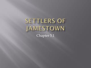 Settlers of Jamestown