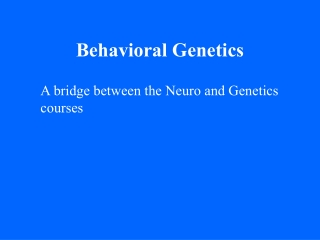 Genomics of Neural and  Behavioral Plasticity