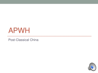 Postclassical China