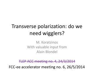 Transverse polarization: do we need wigglers?