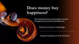 Does money buy happiness?
