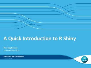 A Quick Introduction to R Shiny