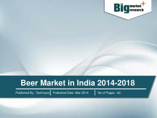 Beer Market in India 2014-2018