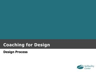 Coaching for Design