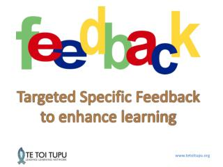 Targeted Specific Feedback  to enhance learning