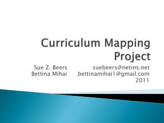 Curriculum Mapping Project
