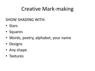Creative Mark-making