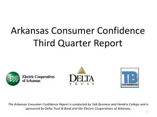 Arkansas Consumer Confidence  Third Quarter Report