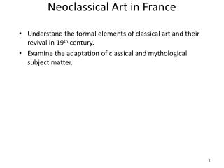 Neoclassical Art in France