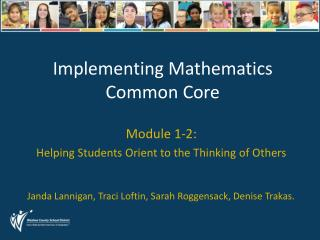 Implementing Mathematics Common Core