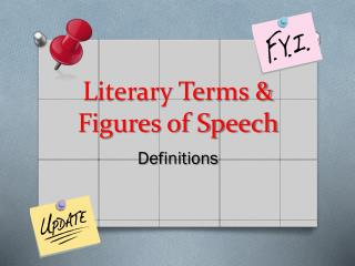 Literary Terms & Figures of Speech