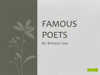 Famous Poets