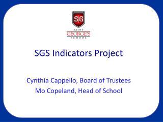 SGS Indicators Project