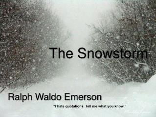 The Snowstorm