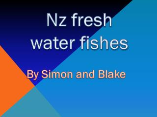Nz fresh water fishes