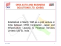 ORIX AUTO AND BUSINESS  SOLUTIONS LTD. OABS