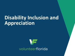 Disability Inclusion and Appreciation