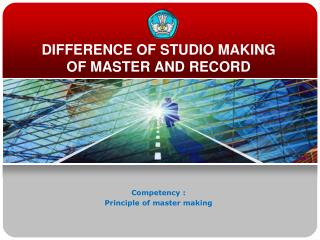 DIFFERENCE OF STUDIO MAKING OF MASTER AND RECORD