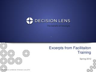 Excerpts from  Facilitaiton  Training