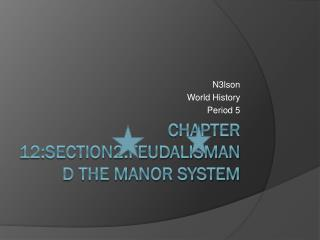 Chapter 12:Section2:Feudalismand the manor system