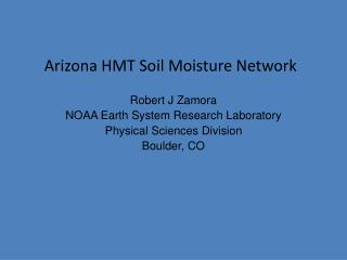 Arizona HMT Soil Moisture  Network