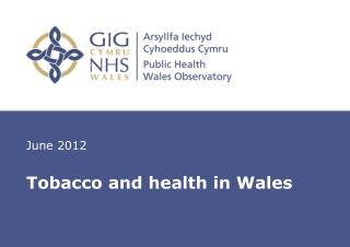 Tobacco and health in Wales
