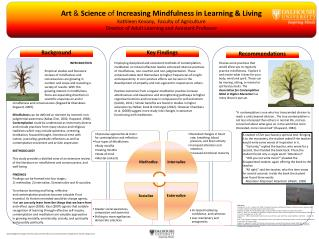 Art  &  Science  of  Increasing Mindfulness in Learning & Living