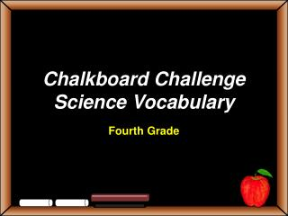 Chalkboard Challenge Science Vocabulary