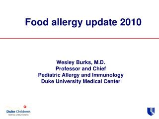Food  allergy update 2010