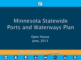 Minnesota Statewide  Ports and Waterways  Plan