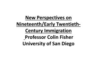 Three New Theoretical Approaches
