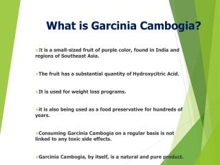 What  is  Garcinia Cambogia ?