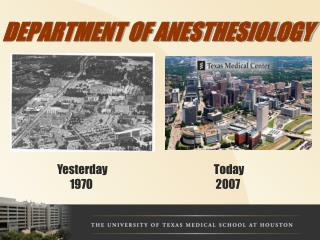 DEPARTMENT OF ANESTHESIOLOGY